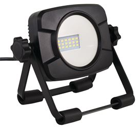 POWERZONE C1-1000SS Work Light With Stand, 15 W, 120 VAC, LED Bulb, 1000 lumens, 4000 K, CRI 80, 5 ft L