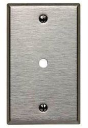 Leviton 003-84013-000 Standard Size Telephone/Cable Wall Plate, 1 Gang, 4-1/2 In L X 2-3/4 In W 0.187 In T, Brushed