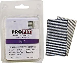 Pro-Fit 0712454 Collated Nail, 1/16 in x 1-3/4 in, Steel