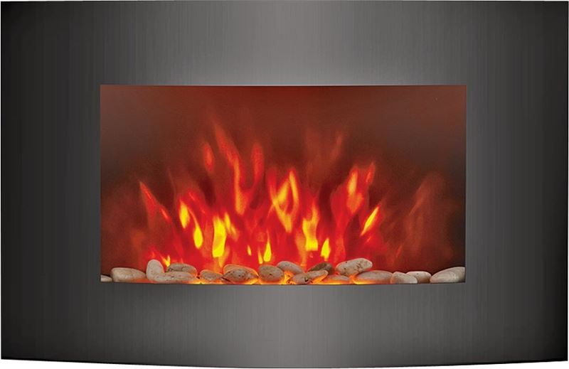 HOMEBASIX HEATER WALL MNT 35IN FIREPLACE