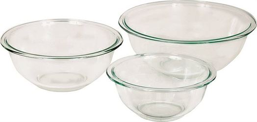 Anchor Hocking 81572l11 Mixing Bowl Set, 1, 1.5 And 2.5 Qt, Glass, Clear - 2 Pack