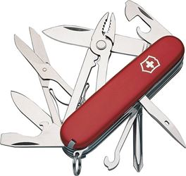 Deluxe Tinker 53481 Pocket Knife, 17-In-1 Function, Stainless Steel, VX Red