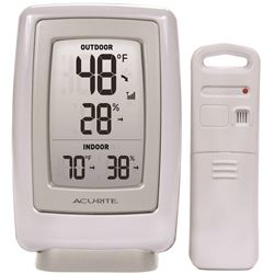 AcuRite 00611CASBA2 Wireless Thermometer, LCD Display