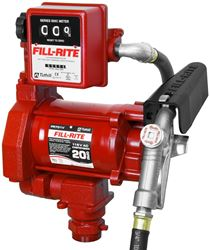 Tuthill 700 AC Fuel Transfer Pump, 20 gpm, 1-1/4 in x 3/4 in, 3/4 in X 12 ft Hose