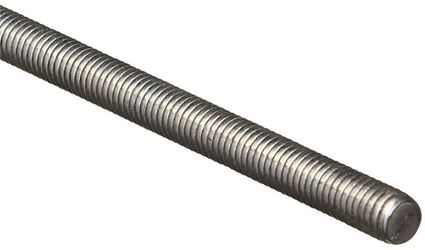 Stanley 179440 Threaded Rod, 7/16-14 x 24 in, Low Carbon Steel, Zinc Plated
