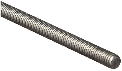 Stanley 179523 Threaded Rod, 7/16-14 x 36 in, Low Carbon Steel, Zinc Plated