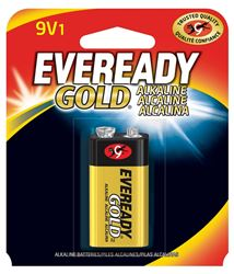 Eveready Gold A522BP Alkaline Battery, 9 V, Zinc-Manganese Dioxide