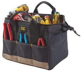 BigMouth Tool Works 1161 Standard Traditional Tool Bag, 12 in L X 8-1/2 in W X 8 in D