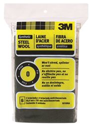 3M 10118 Rectangular? Steel Wool Pad, 4 In L X 2 In W, Synthetic Fiber, No 0 Grit, Green