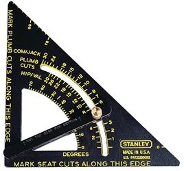 Quick Square 46-053 Square Layout Tool, 10-3/4 L Base X 6-3/4 in L Rule, Aluminum