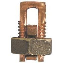 Erico Esb1/0 High Strength Split Bolt Connector, 4 Sol - 1/0 Str Copper, Silicon Bronze, Bronze