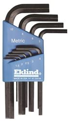 Eklind 10509 L Handle Short Arm Hex Key Set, 9 Pieces
