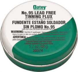Oatey No. 95 Tinning Flux, 1.7 Oz, Carded, Paste, Greenish-Gray