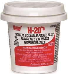 Oatey H-205 Water Soluble Flux, 4 Oz, Paste, Off-White To Light Yellow