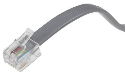 AmerTac Zenith TL1001G Telephone Cord, 12 in