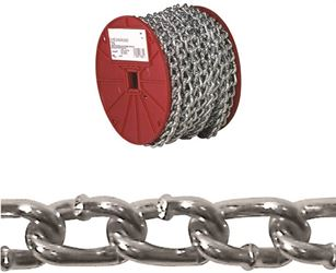 Campbell 072-2527 Twist Link Machine Chain, 2/0, 70 ft L, 520 lb, Low Carbon Steel