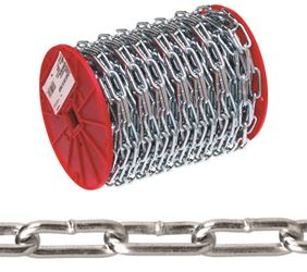 Campbell 072-3627 Straight Link Chain, NO 2 x 125 ft, 520 lb, Low Carbon Steel
