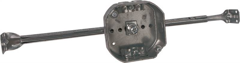 Raco 8326 Ceiling Outlet Box, 2 Gang, 15.5 cu-in, 4 in Dia x 1-1/2 in D