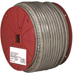Campbell 700-0497 Flexible Aircraft Cable, 1/8 in Dia X 250 ft L, 340 lb