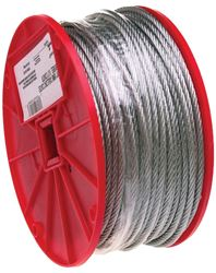 Campbell 700-0427 Flexible Uncoated Aircraft Cable, 1/8 in Dia X 500 ft L, 340 lb