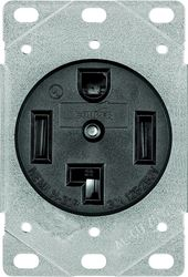 Arrow Hart 1257-SP Grounded Straight Blade Electrical Receptacle, 125/250 V, 30 A, 3 Pole, 4 Wire