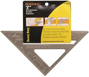 Great Neck Saw 11059 Rafter Angle Square, 7 In L, Aluminum