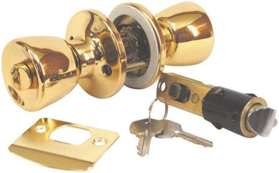 United States Hardware D-099B Brass Entrance Lock