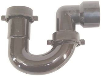United States Hardware P-686C Sink Trap Black