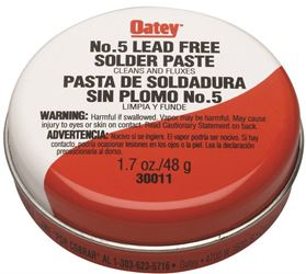 Oatey 30011 No. 5 Paste Flux, 1.7 Oz, Solid, Yellow