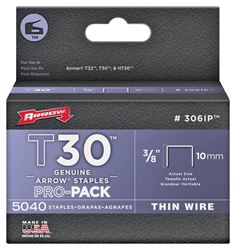 Arrow Fastener 306IP  Staples, 3/8 Inch