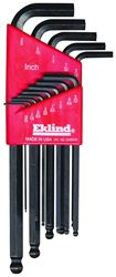 Eklind 13213 Long Arm L Handle Hex Key Set, 13 Pieces