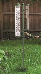 AcuRite 00232CA Swivel Rain Gauge and Thermometer, 0 - 8 in, 0 - 210 mm, 48 in H x 6.3 in W x 2-1/2 in D