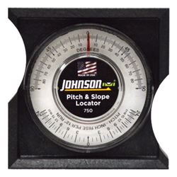 Johnson 750 Pitch and Slope Locator, 0 - 90 deg, ABS Plastic, Clear