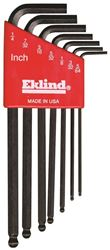 Eklind 13207 Long Arm L Handle Hex Key Set, 7 Pieces