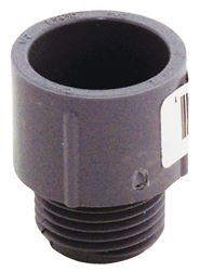 Carlon E943D-CTN Terminal Adapter, 1/2 in Rigid/Non-Metallic, MNPT x Socket, 1-5/16 in L, SCH 40/80, PVC