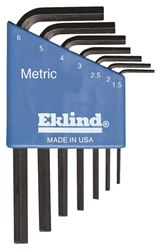 Eklind 10507 L Handle Short Arm Hex Key Set, 7 Pieces