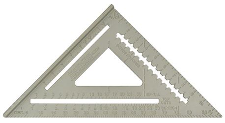 Johnson RAS-120 Professional Rafter Angle Square, 12 in Body, Milled Aluminum