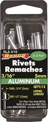 Arrow RLA3/16 Long Blind Rivet, 3/16 in Dia, Aluminum