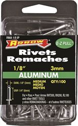 Arrow RMA1/8IP Medium Pop Rivet, 1/8 in Dia, Aluminum