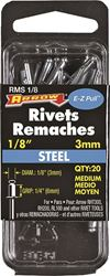 Arrow RMS1/8 Medium Pop Rivet, 1/8 in Dia, Steel