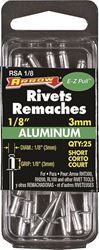 Arrow RSA1/8 Short Blind Rivet, 1/8 in Dia, Aluminum
