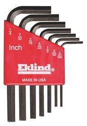 Eklind 10107 L Handle Short Arm Hex Key Set, 7 Pieces