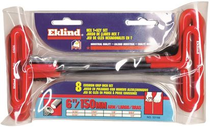 Eklind 53168 T-Loop Handle Hex Key Set, 8 Pieces, 6 in L Arm
