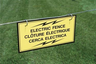 FI-SHOCK A-12T ELECT FENCE WARNING SIGN