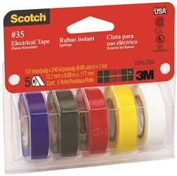 3M 10457 Asst Colored Elect Tape
