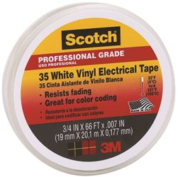 3M 35 White Electrical Tape 3/4In