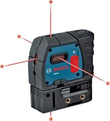CST GPL5 5-Point Alignment Self-Leveling Laser Level, 1/4 in, 100 ft, 1.5 V AA Battery, Rubber