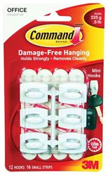 3M 17006-Vp White Hooks Value Pk