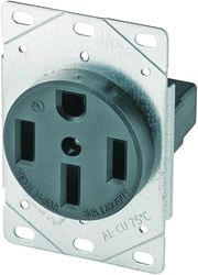 Arrow Hart 1258-SP Grounded Straight Blade Electrical Receptacle, 125/250 V, 50 A, 3 Pole, 4 Wire
