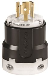 Arrow Hart Hart-Lock CWL1020P Non-Grounded Straight Twist Lock Electrical Plug, 125/250 V, 20 A